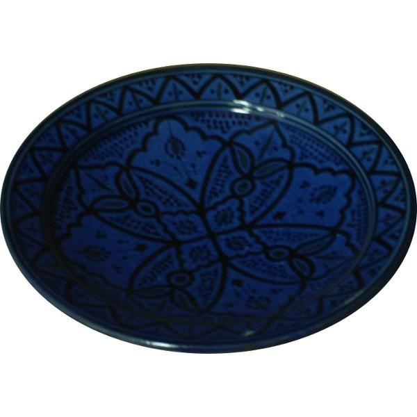 plat en c ramique marocain poterie artisanale de safi. Black Bedroom Furniture Sets. Home Design Ideas