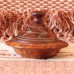 Wooden Tajine pot