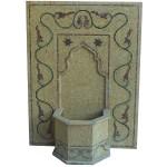 Fontaine de jardin murale en pierre