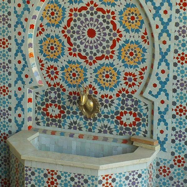 Fontaine Murale Marocaine En Zellige D Cor Fassi