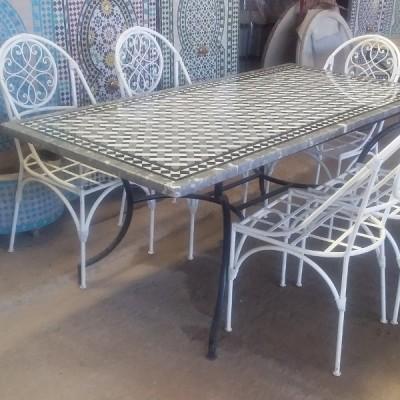 Table rectangulaire en zellige