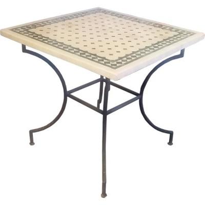Table en zellige carrée