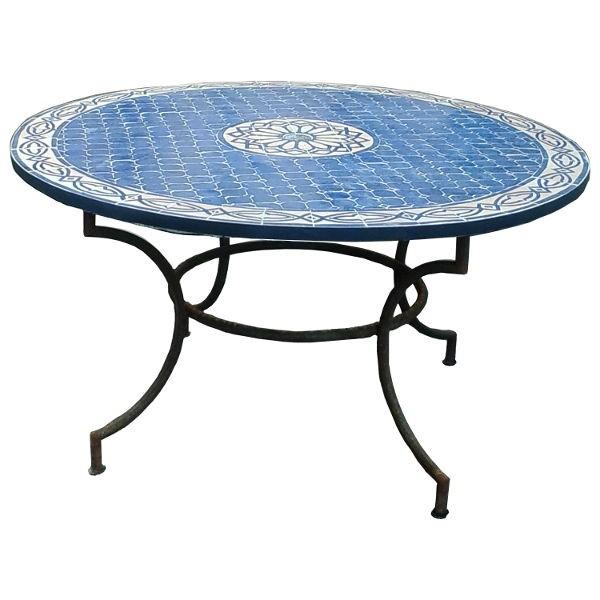 Table de jardin marocaine en zellige