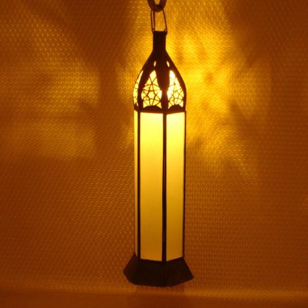 lanterne marocaine en fer et verre opaque de marrakech. Black Bedroom Furniture Sets. Home Design Ideas