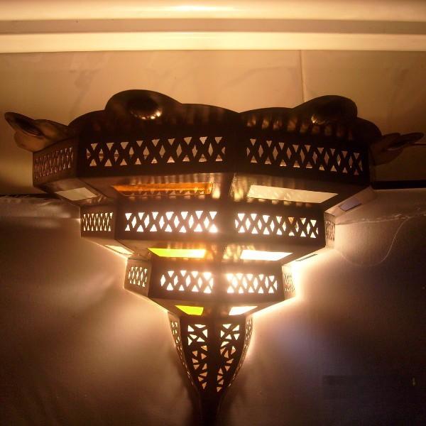 applique murale marocaine en fer forg. Black Bedroom Furniture Sets. Home Design Ideas