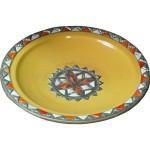 Plat marocain jaune en céramique