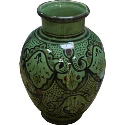 vase marocain vert artisanal en c ramique safi maroc. Black Bedroom Furniture Sets. Home Design Ideas