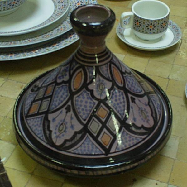 decorative moroccan tagine of safi morocco. Black Bedroom Furniture Sets. Home Design Ideas