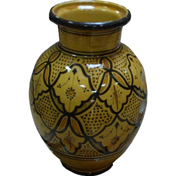 Vase marocain artisanal en céramique