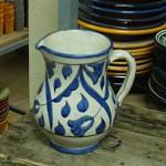 Pichet marocain bleu et blanc