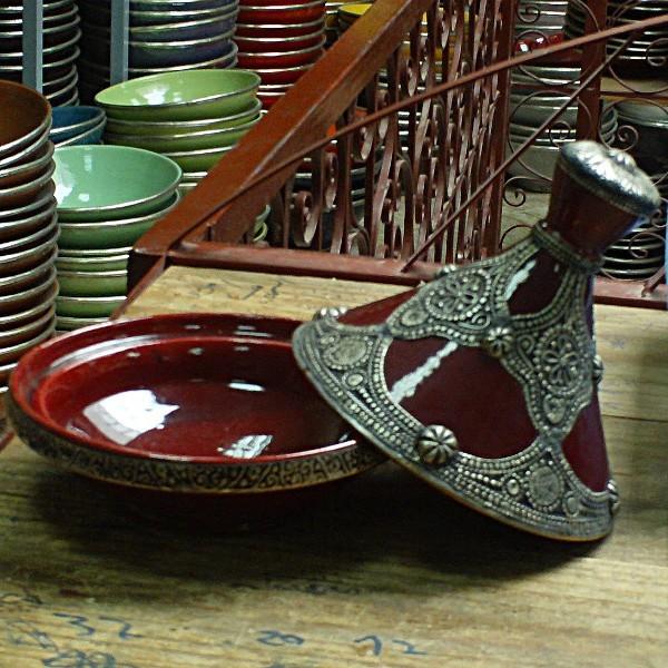 Moroccan Tagine Tajine Ceramic Metal Decorative
