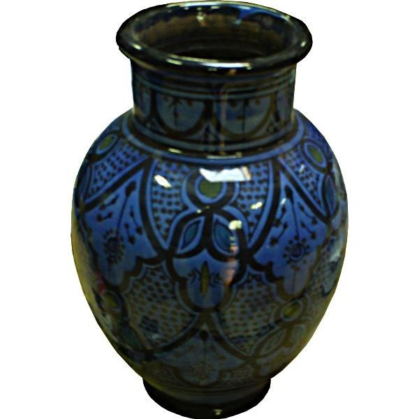 vase marocain en c ramique poterie de safi maroc. Black Bedroom Furniture Sets. Home Design Ideas