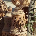 Terracotta Garden Lamp