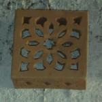 Applique carrée en terre cuite