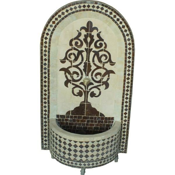 fontaine murale en zellige du maroc. Black Bedroom Furniture Sets. Home Design Ideas