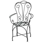 Chaise en fer forgé de jardin