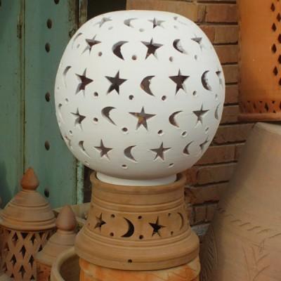 Terracotta white Lamp for garden