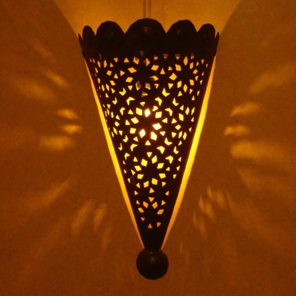 Applique murale marocaine conique artisanat marocain de - Appliques electriques murales ...