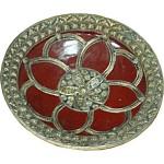 Plat marocain en céramique et fer forgé