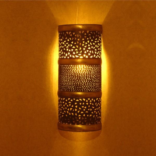 applique murale marocaine en fer patin et laiton cisel main. Black Bedroom Furniture Sets. Home Design Ideas