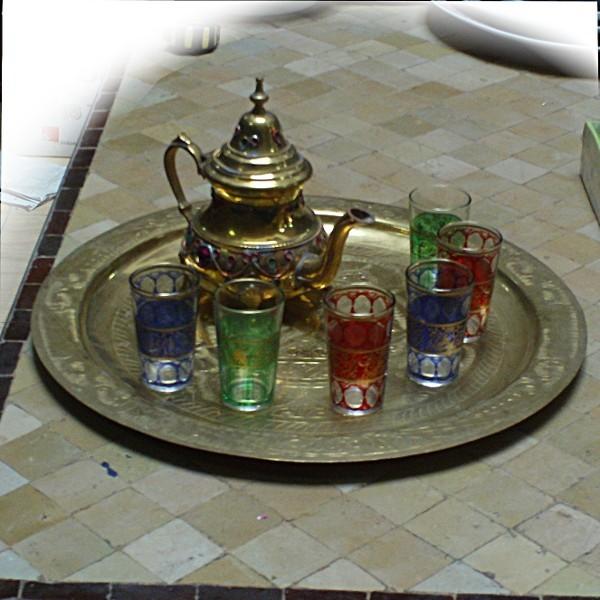 Moroccan Tea Set Teapot Tea Glasses