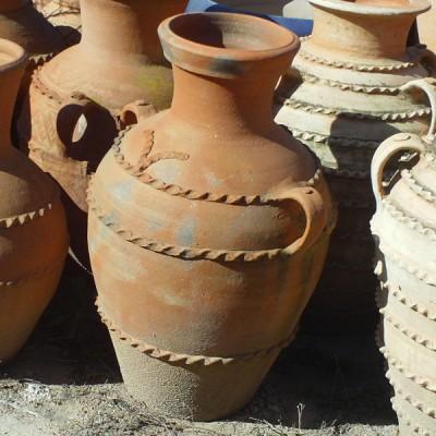 jarre en terre cuite avec deux anses artisanat marocain. Black Bedroom Furniture Sets. Home Design Ideas