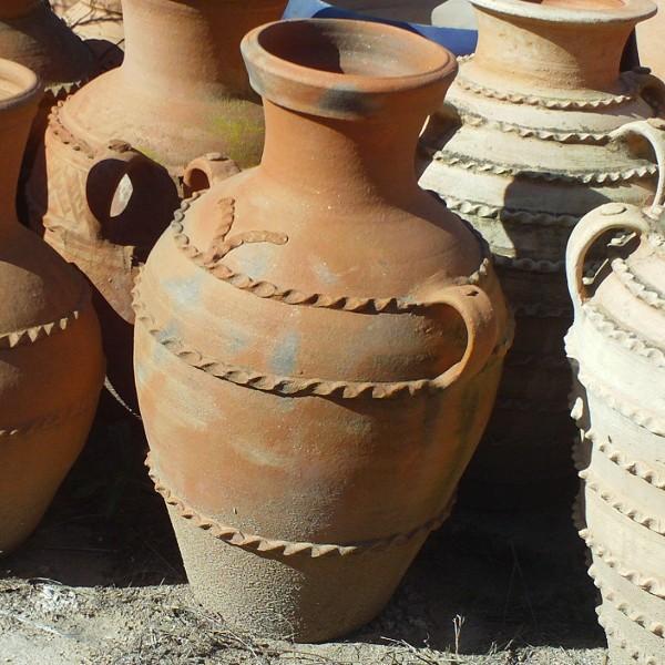 Jarre en terre cuite avec deux anses artisanat marocain - Tajine en terre cuite ...