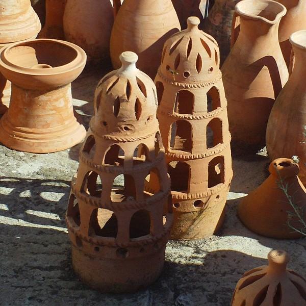 Garden Lamp Terracotta Moroccan Handicraft