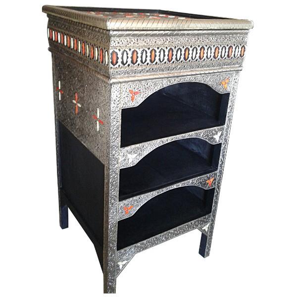 Moroccan Embossing Metal Furniture Moroccan Handicraft