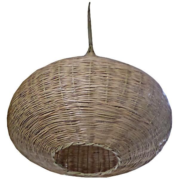 Plafonnier artisanal en osier