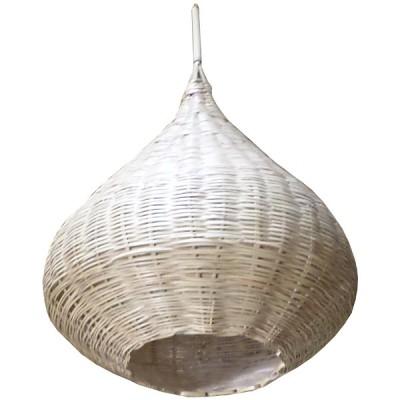 luminaire en osier. vannerie de marrakech, maroc