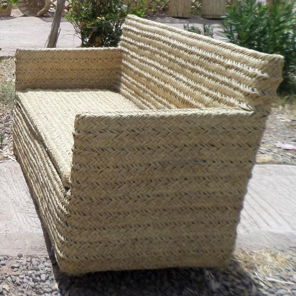 canap en osier et rotin salon de marrakech maroc. Black Bedroom Furniture Sets. Home Design Ideas