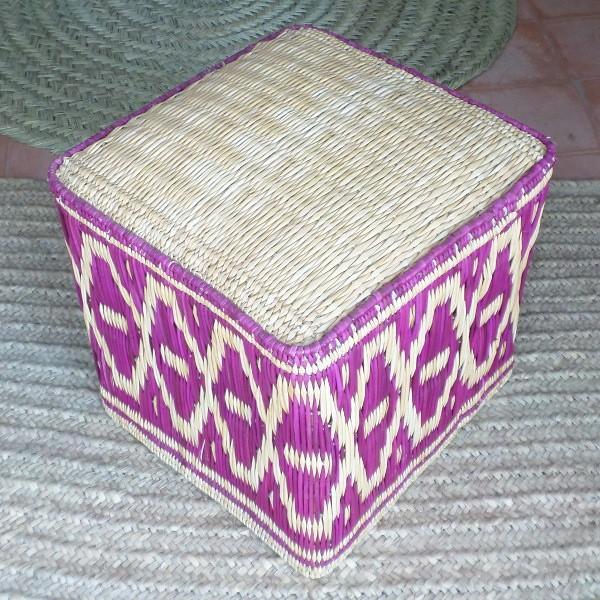 Tabouret marocain en osier