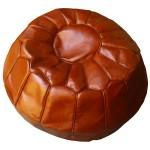 Pouf marocain en cuir