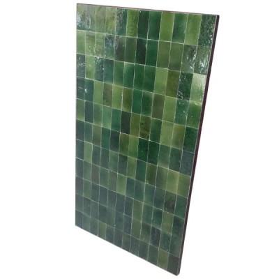 Emerald green tiles Table