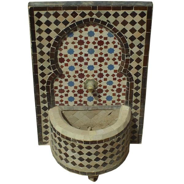 petite fontaine murale d 39 ext rieure en mosa que de zellige. Black Bedroom Furniture Sets. Home Design Ideas