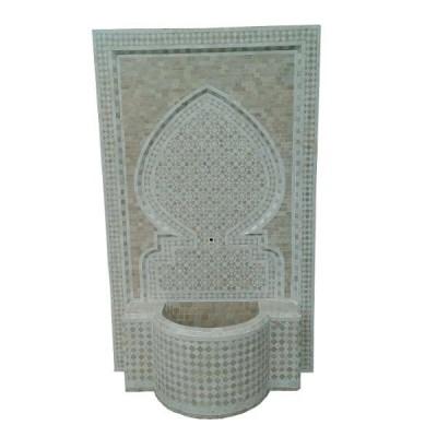 Fontaine de jardin centrale en zellige, Artisanat marocain
