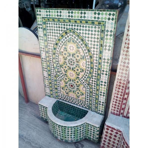 fontaine murale de jardin en zellige artisanat marocain. Black Bedroom Furniture Sets. Home Design Ideas