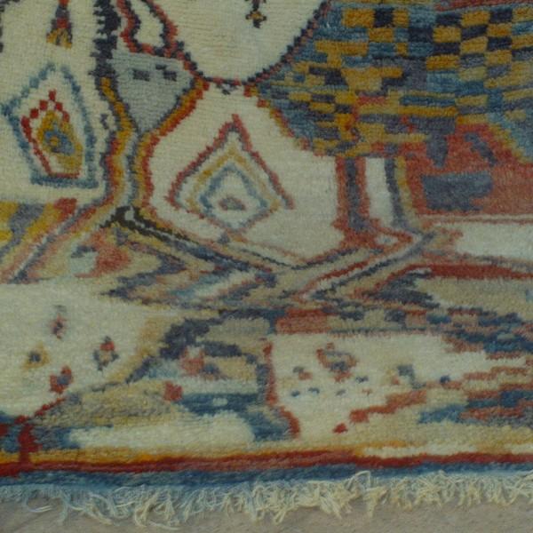 Beni Ouarain Rug, Black & White Rug, Middle Atlas, Morocco
