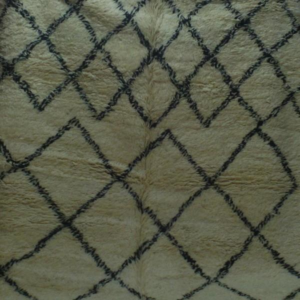 Tapis beni ouarain noir et blanc grande taille - Tapis berbere grande taille ...