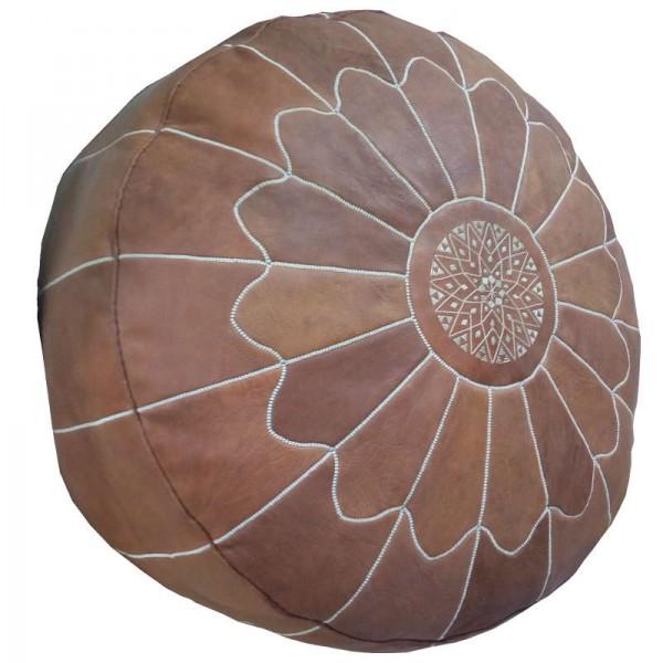 Pouf de salon marocain en cuir