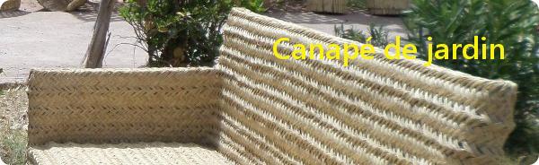 Canapé de jardin en osier