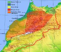 Carte tribale du Maroc