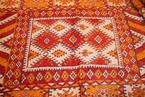 Patterns of Vintage Moroccan Carpets, High Atlas, Morocco