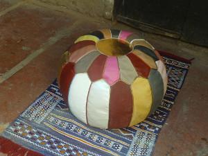 Pouf en cuir de Marrakech
