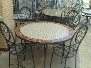 Zellij Moroccan tables