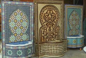 Fontaines Zellige, Marrakech, Maroc