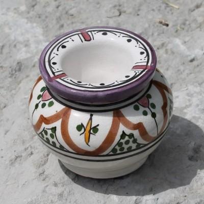 Moroccan ceramic ashtray