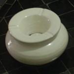 Cendrier marocain blanc