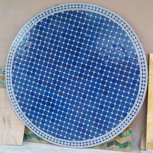 Table Ronde En Mosaique De Zellige Fait Main Marrakech Maroc